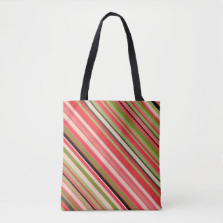 Motif Pastèque-Inspiré Fourre-tout de rayures Tote Bag