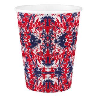 Motif patriotique de rouge, blanc et bleu d'abrégé gobelets en papier
