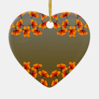 motif poppy4 ornement cœur en céramique