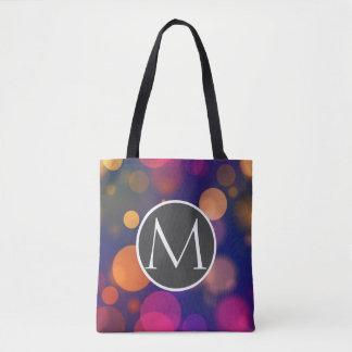Motif pourpre, bleu, rose lumineux de lumières de sac