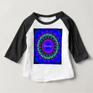 Motif pourpre de mandala de Darma de vérités de T-shirt Pour Bébé