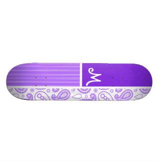 Motif pourpre de Paisley Skateoard Personnalisé