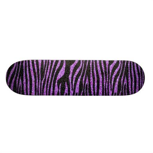 Motif pourpre de rayure de zèbre (scintillement de skateboard customisable