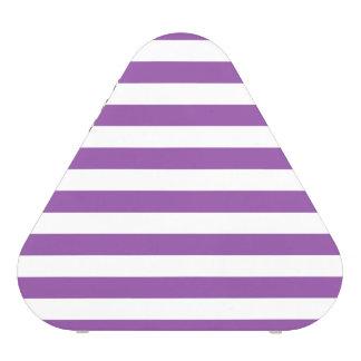 Motif pourpre et blanc de rayure haut-parleur bluetooth