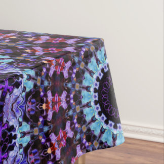 Motif pourpre et bleu de motif coloré de mandala nappe