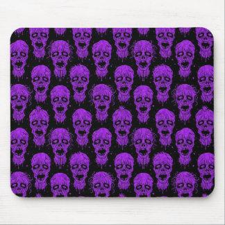 Motif pourpre et noir d'apocalypse de zombi tapis de souris