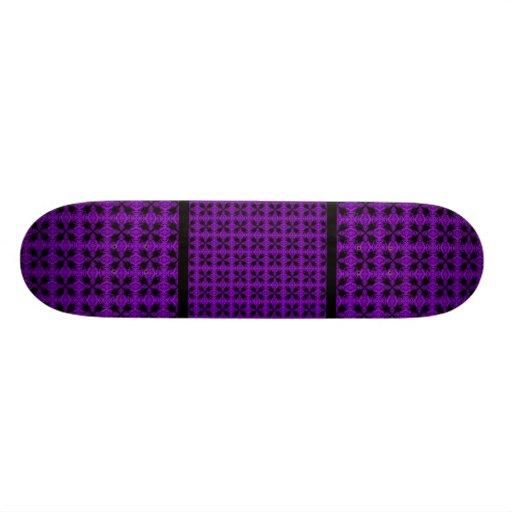 Motif pourpre et noir gothique skateboards personnalisés