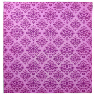 Motif pourpre frais de papier peint de damassé de serviettes en tissus