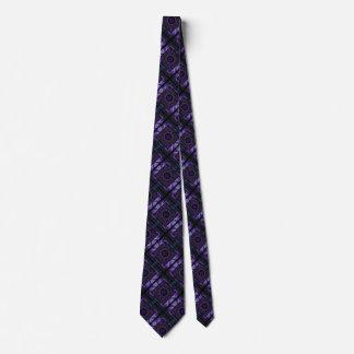 Motif pourpre géométrique et de fractale cravates