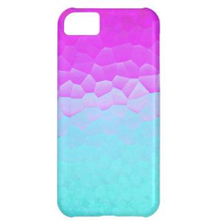 Motif pourpre Girly de Bokeh de mosaïque d'Ombre Coque iPhone 5C
