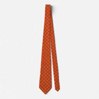 Motif pourpre orange-foncé de couleurs de cravate