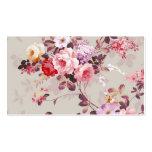 Motif pourpre rouge-rose élégant vintage de roses cartes de visite professionnelles