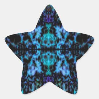 Motif psychédélique de crânes de kaléidoscope sticker étoile
