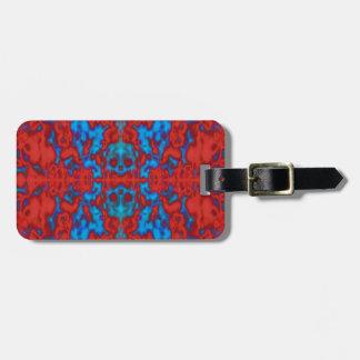 Motif psychédélique de kaléidoscope étiquette à bagage