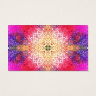 Motif psychédélique lumineux coloré frais de rose cartes de visite