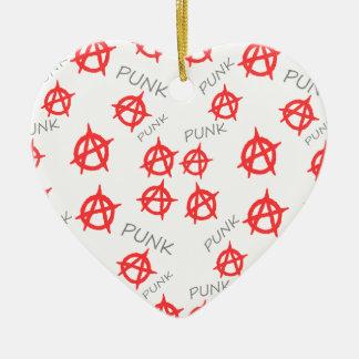 Motif punk ornement cœur en céramique