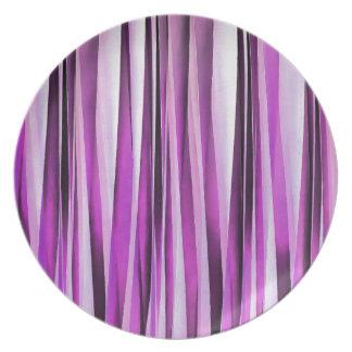 Motif rayé de Lavendar, d'iris et de raisin Assiette