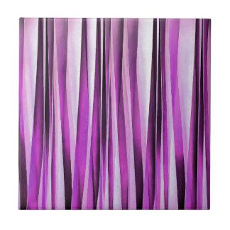 Motif rayé de Lavendar, d'iris et de raisin Carreau