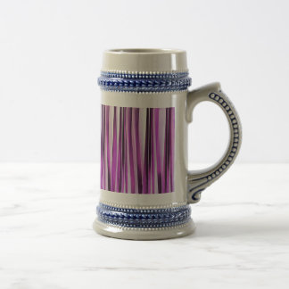 Motif rayé de Lavendar, d'iris et de raisin Chope À Bière