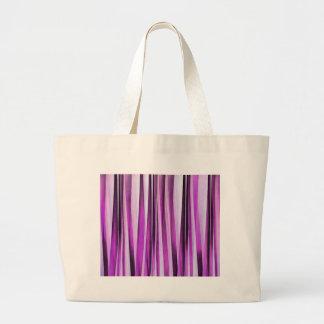 Motif rayé de Lavendar, d'iris et de raisin Grand Tote Bag