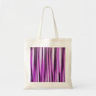 Motif rayé de Lavendar, d'iris et de raisin Tote Bag