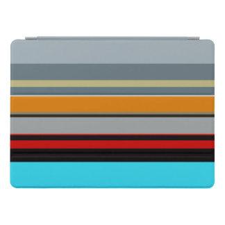 Motif rayé multicolore argenté bleu jaune rouge protection iPad pro