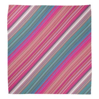 Motif rayé multicolore bandanas