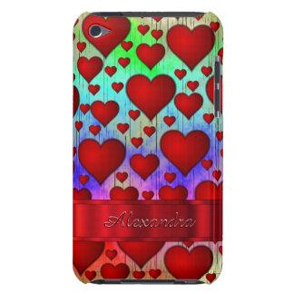 Motif romantique de coeur personnalisé coque iPod touch