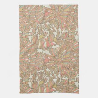 Motif romantique fait de fleurs de pivoine serviette pour les mains
