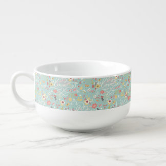 Motif romantique lumineux moderne mug à potage