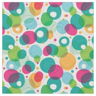 Motif rond d'enfants de bulles tissu