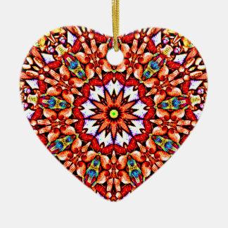 Motif rond ornement cœur en céramique