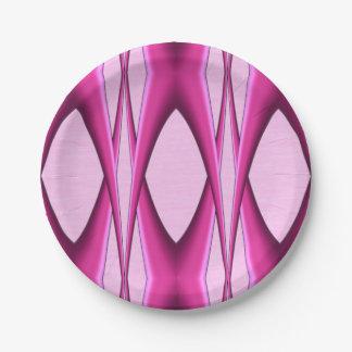 Motif rose assiettes en papier