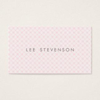 Motif rose chic simple de soins de la peau et de cartes de visite