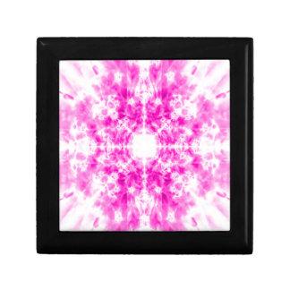 Motif rose coloré de kaléidoscope petite boîte à bijoux carrée