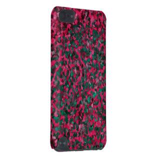 Motif rose d'abrégé sur vert coque iPod touch 5G