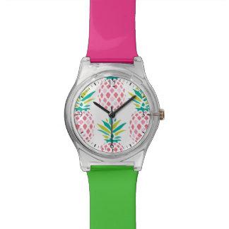 Motif rose d'ananas montres cadran