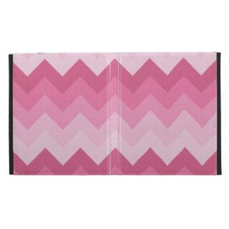 Motif rose de chevron coques iPad folio