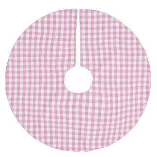 Motif rose de contrôle de guingan jupon de sapin en polyester brossé