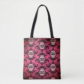 Motif rose de crâne de Goth Tote Bag