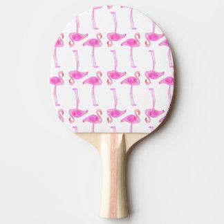 Motif rose de flamant raquette tennis de table