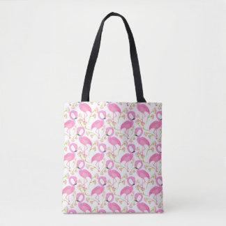 Motif rose de flamant tote bag