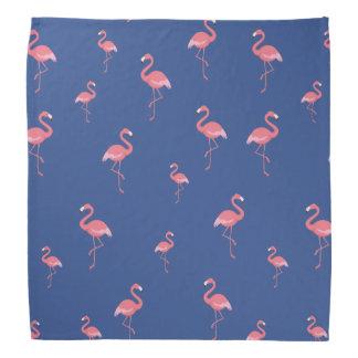 motif rose de flamants bandana