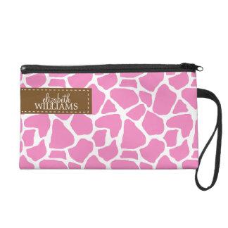 Motif rose de girafe sac à main avec dragonne