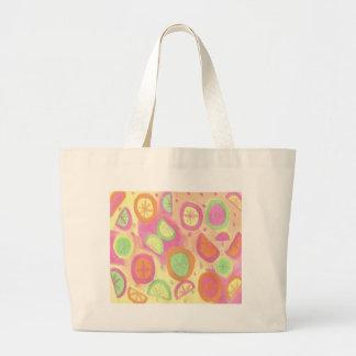 Motif rose de limonade grand sac