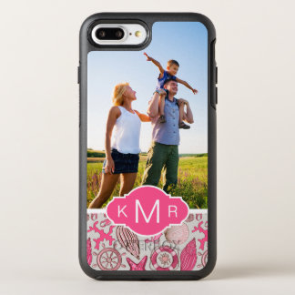 Motif rose | de mer votre photo et monogramme coque otterbox symmetry pour iPhone 7 plus
