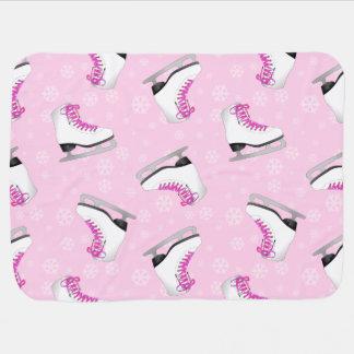 Motif rose de patinage artistique couvertures de bébé