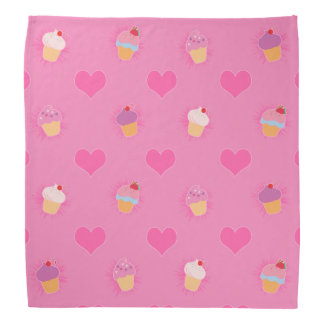 Motif rose de petit gâteau bandana
