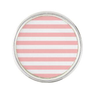 Motif rose et blanc de rayure épinglette