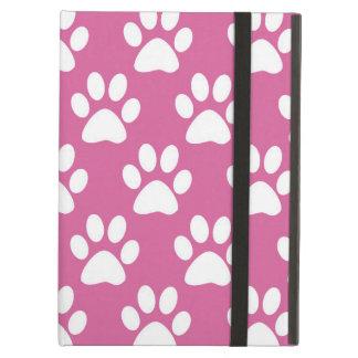 Motif rose et blanc d'empreintes de pattes coque iPad air